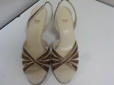 """Impo Women's Ladies Brown Snake Skin Dress Shoes Sandals 3"""" Heel New Size 8B"""