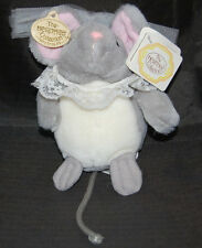 "Wedding Mouse Bride Lace The Heritage Collection  Veil Collar NWT Plush 6"" Toy"