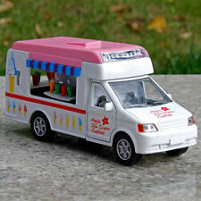 TOY MODEL ICE CREAM VAN TRUCK WITH MUSIC&LIGHTS WHITE PINK 1:38 Children's Gifts