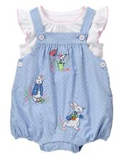 NWT Gymboree Peter Rabbit Romper set 3 6 12 18 24mo Baby Girl