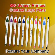 500 Custom Logo Retractable Ballpoint Pens