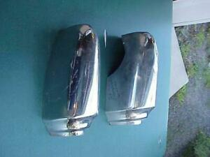 1956 Chrysler Pair Good Rear Bumper Ends Windsor OEM Left & Right