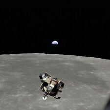 Photo Nasa - Apollo 11 - Module lunaire Lune & levée de Terre