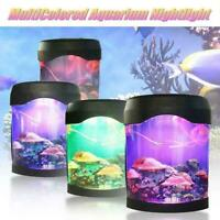 Jellyfish Tank Mood Light Aquarium Style Relaxing LED Colour Desk Changing W5S8