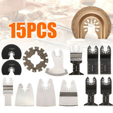 15 Pc Blade Kit For ROCKWELL SONICRAFTER WORX Oscillating Multitool Accessory
