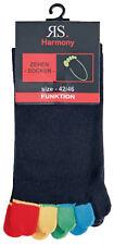 zehensocken schwarz zehenstrumpf ''Bunte Zehen'' Socken mit baumwolle RS-55510