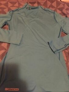 Under Armour Womens Cold Gear Fitted Mock Neck Long Sleeve Shirt Top Sz S