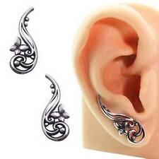 316L Surgical Steel Ear Vine Pin Wire Earring Butterfly 20 Gauge 20G