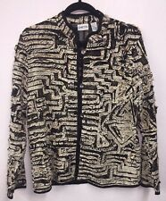 NEW Chicos Kosap Affaire $138 NWT Jacket Topper Black FuNkY Print 1 S 8