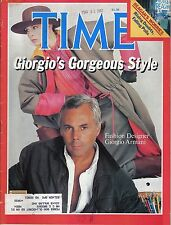 TIME MAGAZINE APRIL 5 1982 GIORGIO ARMANI COLUMBIA RIOS MONTT ROY JENKINS