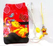 Winnie the Pooh Enamel Charm Pendant, MP3 Pouch & Inner Earphones Gift Set