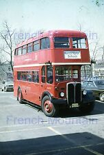 Kodachrome Double Decker Bus Slide, Nancy Taylor School Plainfield NJ Photo 233