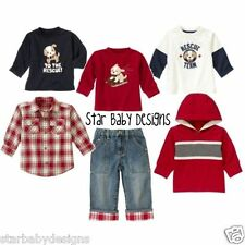 NWT Gymboree SKI CABIN Vintage Outfit 3-6 Months Boys Hoodie,Tops,Jeans 6 Pc