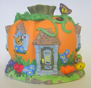 Partylite Pumpkin Patch Candle Holder with Mice Harvest P7316
