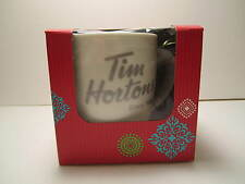 NEW IN BOX TIM HORTONS  WHITE GREEN  PORCELAIN COFFEE MUG  2014