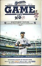 New York Yankees Milwaukee Brewers 2014 Game Day Program 7 Derek Jeter Fans L@@K