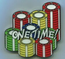 ONE TIME! Metal Medallion Poker Card Guard Protector Cover