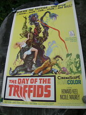 DAY OF THE TRIFFIDS US Original Allied Artists 1962 40 x 60 FILM POSTER