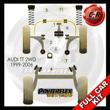 Audi TT Mk1 8N 2WD (99-06) Powerflex Black Complete Bush Kit Late Models