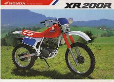 1990 HONDA XR200RL 2 page Motorcycle Brochure NCS