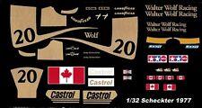 #20 Jody Scheckter Wolf Racing 1977 1/32nd Scale Slot Car Waterslide Decals