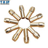 10PC  4.3mm Shank 0.5-3.2mm Mini Drill Brass Collet Chuck Tool for Dremel