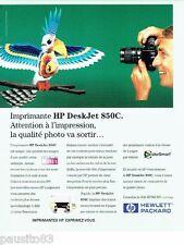 PUBLICITE ADVERTISING 116  1996  Hewlett Packard   imprimante Deskjet 850C