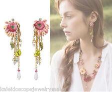 Stud Earring Les Nereides Pink Flower chain earring Australian shop