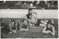 Vintage photograph, affectionate young men, shirtless, gay interest