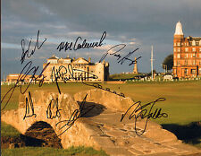 NICK FALDO SIGNED AUTOGRAPH 11X14 PHOTO BRITISH OPEN CHAMPIONS LAWRIE CLARKE +7