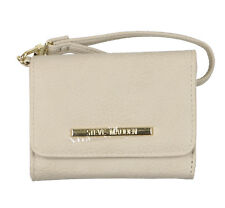 STEVE MADDEN French Wristlet Tri-Fold Wallet - Bisque Cream Gold Adult Micro