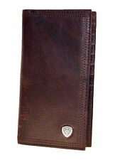 Ariat Mens Western Rodeo Wallet/11Credit Card/Perform Work/Dk Copper
