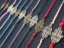 KARMASTRING string tie on HAMSA FATIMA HAND bracelet KALAVA kalawa UK SELLER