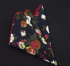Hankie Pocket Square Cotton Handkerchief Red /& Pink Paisley UHO10