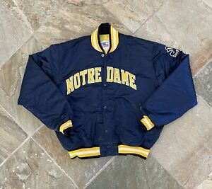 Vintage Notre Dame Fighting Irish Starter Satin College Jacket, Size XL