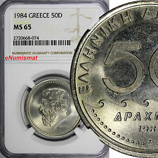 GREECE 1984 50 Drachmes NGC MS65 GEM BU Solon the Archon of Athens KM# 134