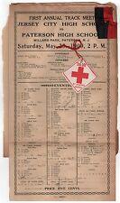 SCARCE 1909 JERSEY CITY HIGH SCHOOL 1st Track Meet PATERSON New Jersey WILLARD