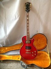 Vintage Univox 1970's electric guitar red with case