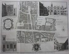Original antique London map CHEAP WARD CHEAPSIDE GUILD HALL, Cole, Maitland 1756