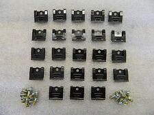 Correct 64-67 C2 Corvette Windshield Moulding Clip 23 pc Set w Screws wc64-67cor