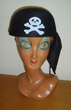 Da Uomo Pirata BANDANA TESCHIO OSSA INCROCIATE sul cappello Headwear Costume NUOVO