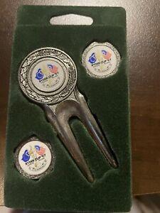 1997 Ryder Cup Valderama Divot Tool and Ball Marker Set. New. Rare.