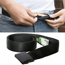 Travel Security Belt Hidden Money Pouch Pocket Waist Belt Safe **UK FAST POST**