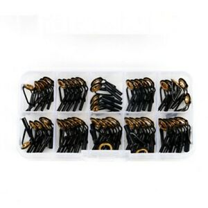 Black+Gold Box Tip Top Guides DIY Stainless Steel+Ceramic Top Tip Guide