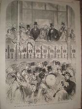 Imperial Tribune avant race grand prix de Paris Longchamps 1867 Print ref Y4