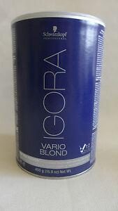 Schwarzkopf Igora Vario Blond Bleach Powder 450g (White) up to 8  levels of lift