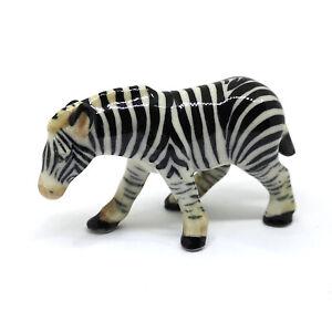 Ceramic Zebra Hand Painted Figurine Wildlife Collectible Miniature Porcelain