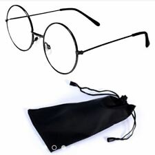 Round Style Harry Potter Inspired Eye Glasses with Pouch - BLACK