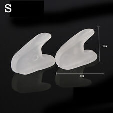 2x Silicone GEL Toe Separator Spacer Straightener Relief Foot Bunion Pain T