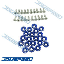 20PC BLUE JDMSPEED CNC BILLET ALUMINUM FENDER WASHER ENGINE BAY DRESS UP KIT